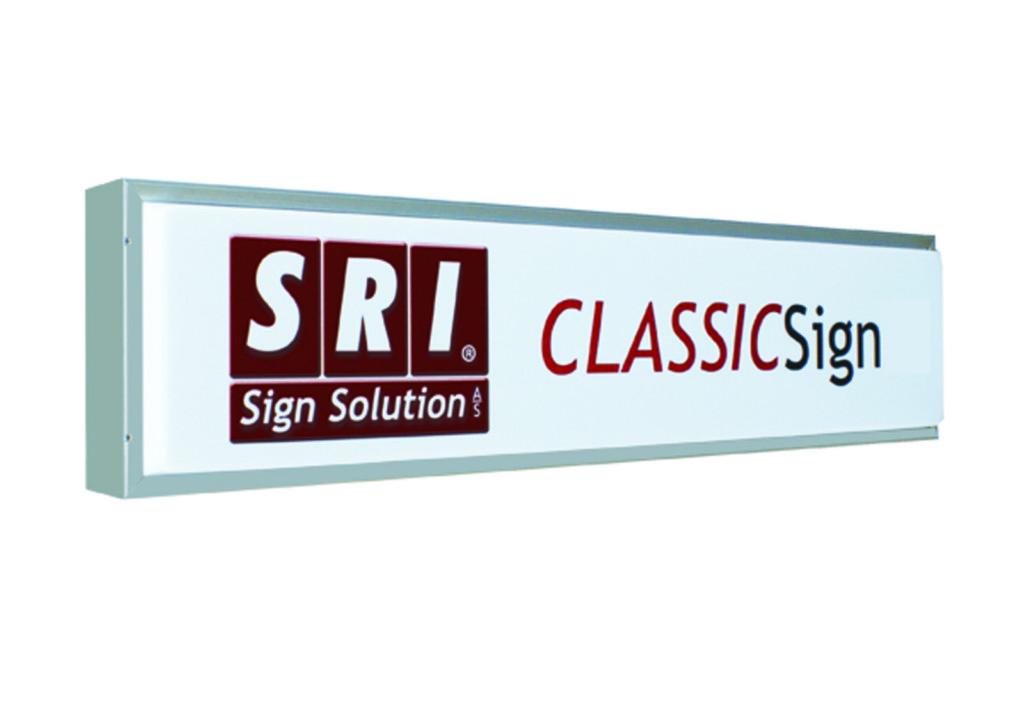 ClassicSignLED - traditionel lyskasse med oppresset frontplade