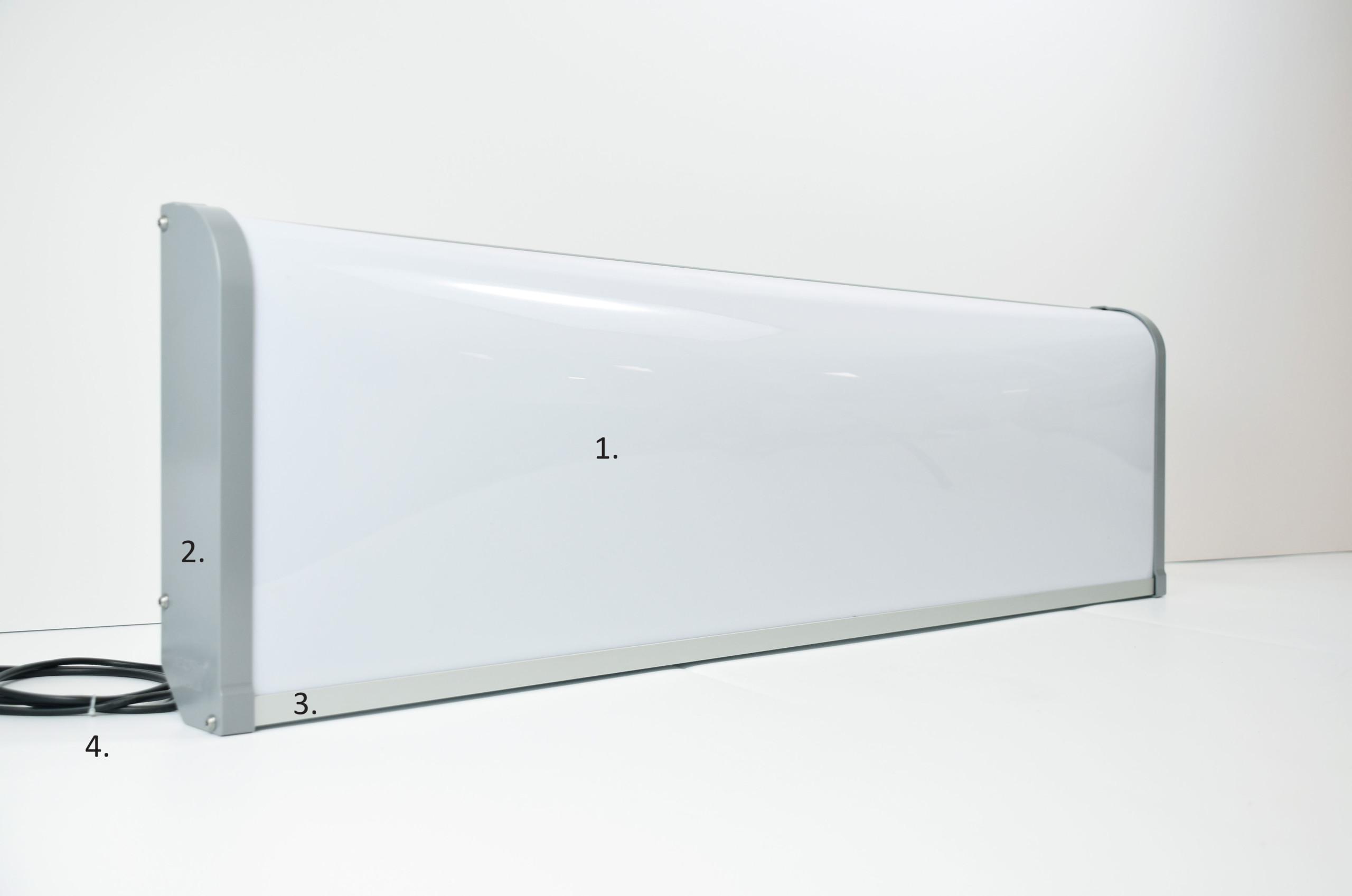 AeroSlimLED lysskilt fra SRI - materialer